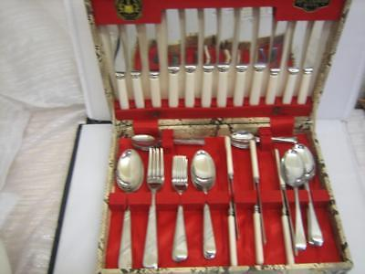 Lovely Quality Vintage 38 Piece Canteen of Cutlery with Extras (00371-CC-W41)