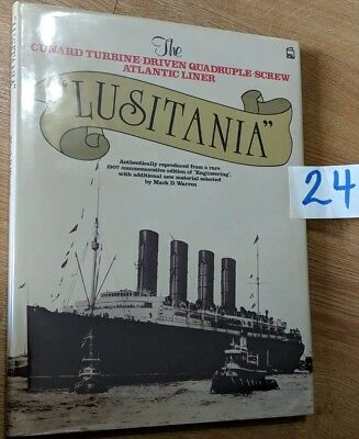 Cunard Line Lusitania Engineering Magazine Book With Mark Warren