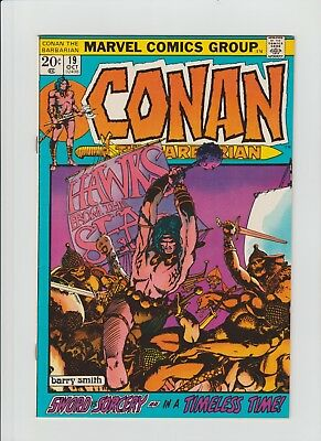 Conan The Barbarian #19 (Oct 1972, Marvel) NM- (9.2) Barry Smith !!!!!