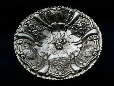 Antique Vintage Italian Silver Plated Decorative Charge/ Bowl Shabby Chic