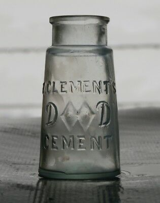 Antique E. CLEMENT'S DIAMOND CEMENT Medicine Cure Bottle, 1800's