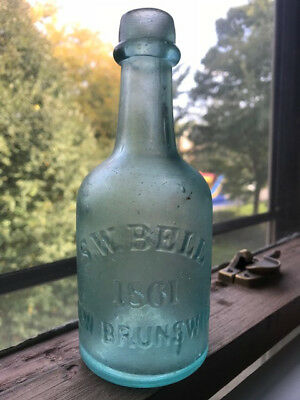 S. W. BELL 1861 NEW BRUNSWICK (New Jersey) mineral water or soda