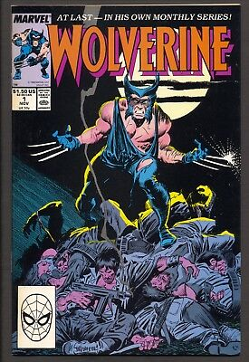 Wolverine #1 (1988) ~ 1st Wolverine as Patch ~ Chris Claremont ~ John Buscema