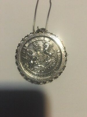 1899 Royal Military Tournament Medal Silver Bayonet Rare See Picture