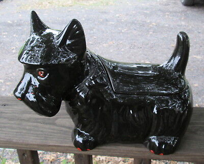 Vtg 1984 Ceramic Scottie Scottish Terrier Dog Cookie Jar