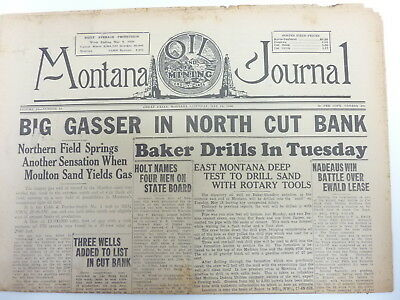 vinage 1936 Montana Oil and MIning Journal oil gas drilling Cut Bank