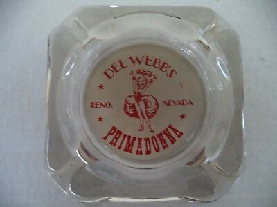 Vintage Del Webb's Primadonna Reno Nevada Casino Ashtray
