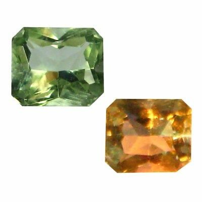 0.18 ct Unbelievable Octagon Shape (4 x 3 mm) Un-Heated Color Change Diaspore
