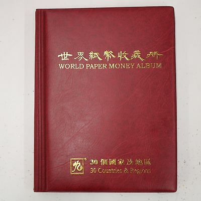 World Paper Money Album 30 Countries & Regions Set Currency Collection #974