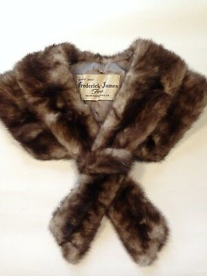 Vintage Fur Collar Double Wrap Frederick James Lined Estate