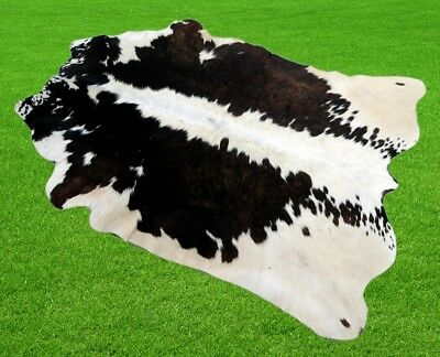 """New Cowhide Rugs Area Cow Skin Leather 11.35 sq.feet (43""""x38"""") Cow hide A-2165"""