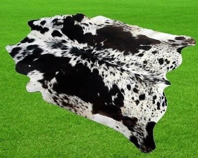 """New Cowhide Rugs Area Cow Skin Leather 12.54 sq.feet (43""""x42"""") Cow hide A-2189"""