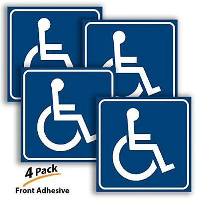 Handicap Stickers Decal Symbol - 4 Pack, 6x6 in - ADA Compliant - Disabled Sign,