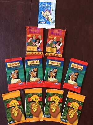 Disney Trading Cards by SkyBox-Mixed Lot of 11 packages-NEW/Unopened-Mid 1990's