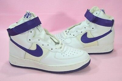 382811e996 VINTAGE 1999 NIKE Air Force 1 White Purple 8 High Af1 - $135.00 ...