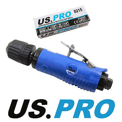 "US PRO Tools 3/8"" DR Non-Reversible Keyless Straight Air Drill 8215"