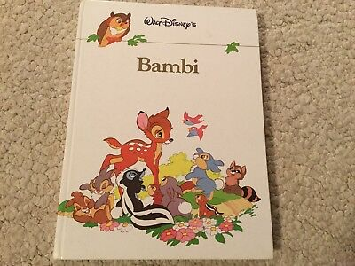 Walt Disneys Bambi Hardback Book, Twin Books, 1988, Printed W Germany