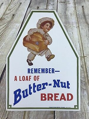 Butter Nut Bread Boy Antique Adertising Freeman Chicago Remember A Loaf  T3