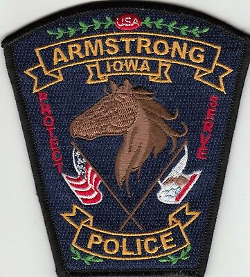 "Armstrong Iowa Police ""horse"" Patch Ia"