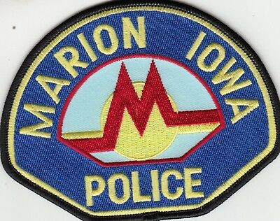 Marion Iowa Police Shoulder Patch Ia