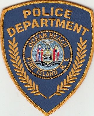 Ocean Beach Fire Island Police Department Shoulder Patch Ny New York