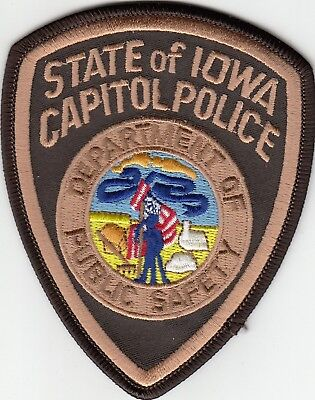 State Of Iowa Capitol Police Department Of Public Safety Patch Ia