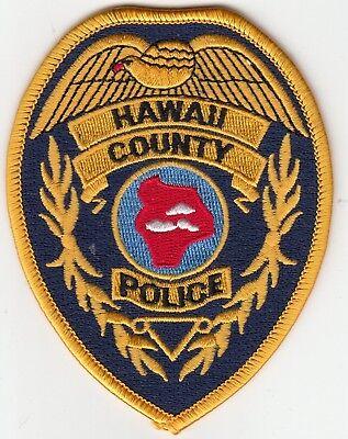 Hawaii County Police Shouldery Patch Hi