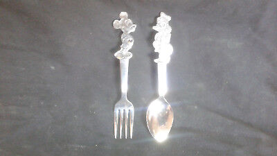 Vintage Disney Baby Youth Mickey Mouse Fork Donald Duck Spoon