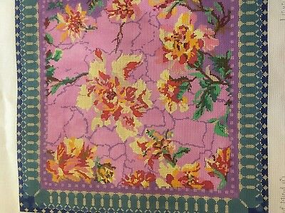 Peas of Mind Needlepoint Tapestry Canvas and Threads - Chintz Linen - Kit