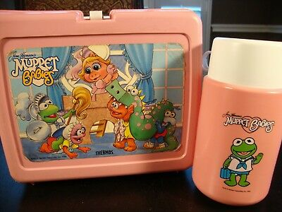 Jim Henson's MUPPET BABIES Lunchbox & Thermos 1986 Exceptional Cond. Disney