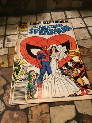 Amazing Spider-Man Annual #21 (1987) - PETER MARRIES MARY JANE!