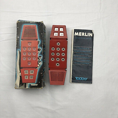 Vintage Merlin The Electronic Wizard 1978 TOLTOYS Original Box Tested Works