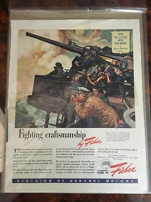 World War II Original American War Bonds Advertisements Display Posters