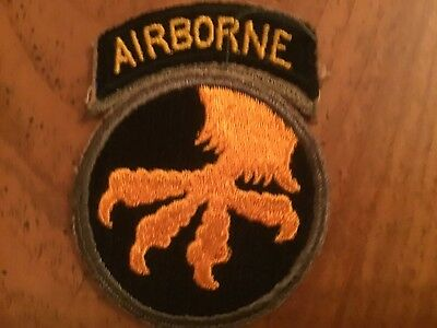 Ww2 Us Army 17Th Airborne Division Patch
