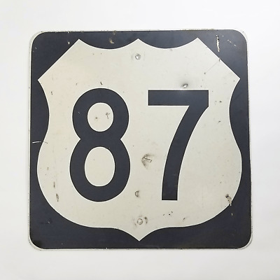 Vintage Authentic U.S. Route 87 Highway Sign - Heavy-Duty Reflective Metal Sign