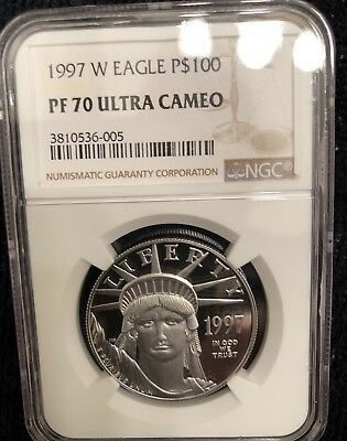 1997 Statue of Liberty $100 Platinum American Eagle PF UCAM70 NGC 1 oz