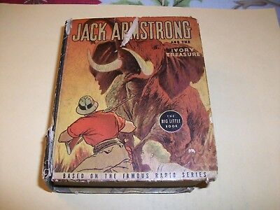 JACK ARMSTRONG and the IVORY TREASURE Radio Series, Whitman 1937 BIG LITTLE BOOK