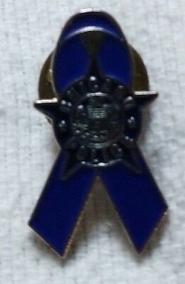 Chicago Police Blue Ribbon Pin
