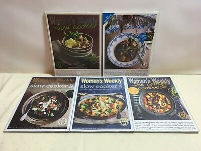 The Australian Women's Weekly Slow Cooker Books 1, 2, 3, 4 & The Cooker Cookbook