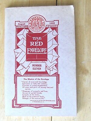 1920 Ww 1 Us Soldier Book Employee Of Red Envelope Co Worcester & Other Co.