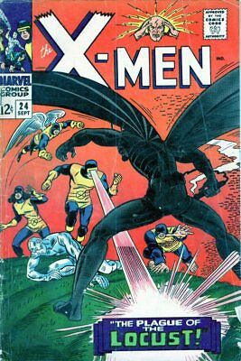 X-Men #24  Silver Age Marvel Comic 1st App. The Locust 1966