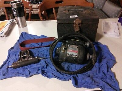 USED DUMORE LATHE TOOL POST GRINDER 14-011 1/14HP w/box plus