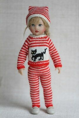 "Knitted outfit for Helen Kish 7.5"" Riley, Kickits(Tonner) and similar size dolls"