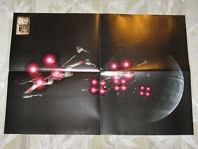 Star Wars Galaxy Rebel X-Wing Fighters Attacking The Death Star Poster!!