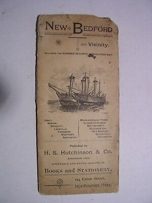 New Bedford MA and Vicinity Map 1892 Advertising
