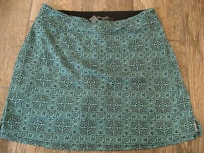 Tranquility By Colorado Blue Black Sun S Athletic Skort Skirt W/shorts Small