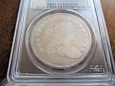 Very Rare 1798 Draped Bust Dollar Pcgs Vg10!!! ***low Start Price***