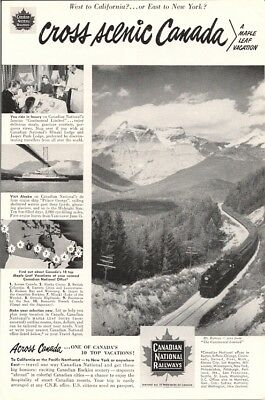 A Maple Leaf Vacation Cross Scenic Canada Vintage Ad 1951