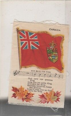 Silk Cigarette Of Canada With Its Flag, Along With A Song, God Save The King