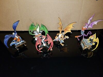 Hamilton Collection Dragon Rock Band Sculptures, 6 Band Members